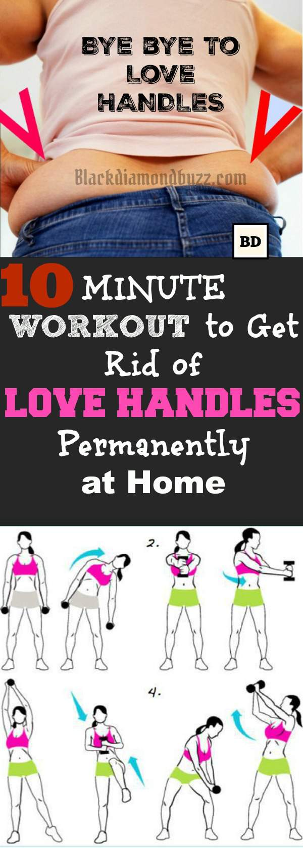 10 Minute Love Handles Workout To Reduce Side Fat And In Top Fast At Home